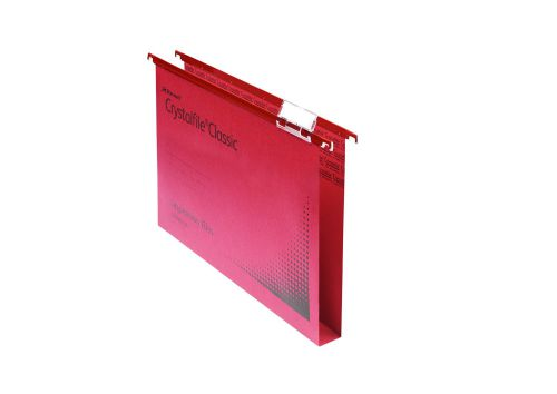 Rexel Crystalfile Classic Suspension File 30mm Red (Pack of 50) 70622