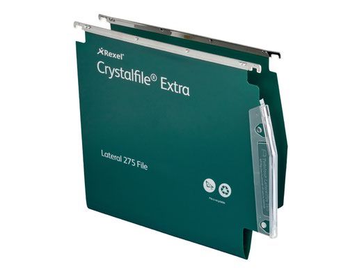 CRYSTALFILE GREEN EXTR LATERAL FILE PK25