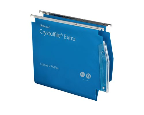 Twinlock Crystalfile Extra Lateral Susp File Blue BX25