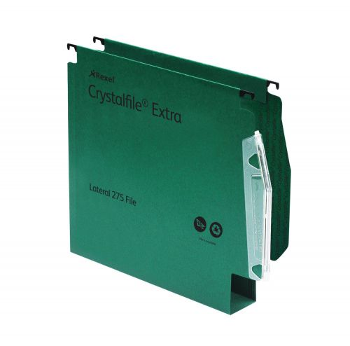Rexel Crystalfile 275 Extra Lateral File 50mm Green (25) 71763