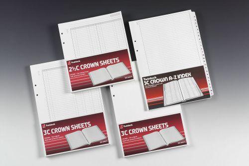 Twinlock Crown Sheets Double Ledger Size 3C 100 Sheets 75841
