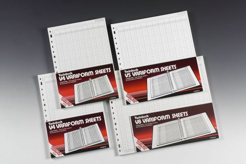 Twinlock V8 Variform 14 Column Cash Sheets 75 Sheets 75984