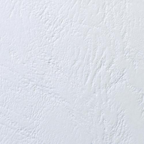 GBC Leathergrain Cover Set PVC n White A4 25 Pairs CR140070