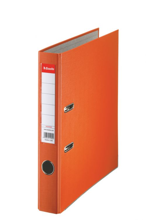 Esselte Essentials Lever Arch File A4 PP 50mm Orange PK25