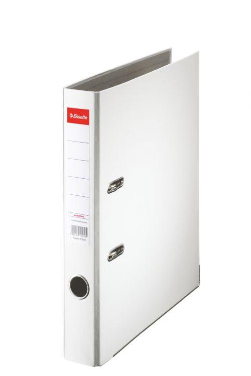 Esselte Essentials Lever Arch File A4 PP 50mm White PK25