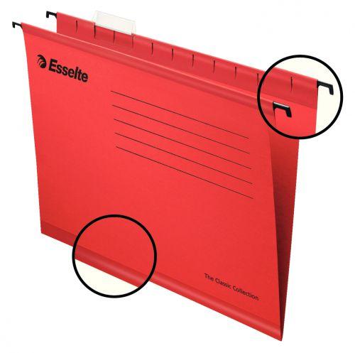 Esselte Classic Suspension File A4 Red PK25