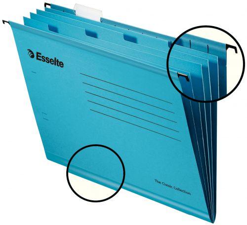 Esselte Pendaflex Reinforced Susp File Foolscap Blue BX10