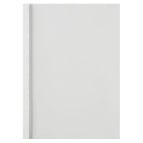 GBC A4 Thermal Bind Covers 3mm Front Clear Back White PK100