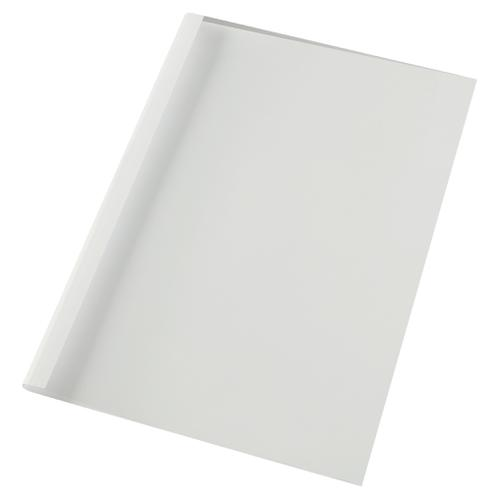 GBC A4 Therm Binding Covers 6mm Front Clear Back White PK100