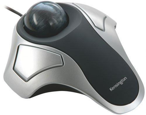Kensington Orbit Wired Trackball Optical Black Silver