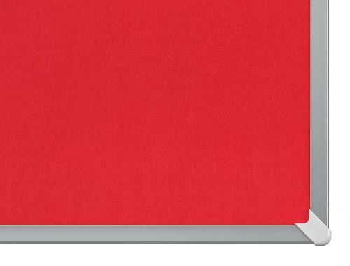 Nobo Widescreen 55in Felt Red Noticeboard