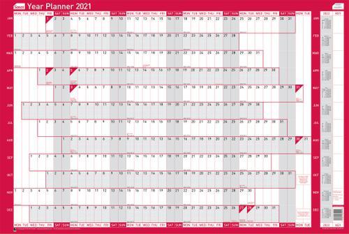 Sasco 2021 Year Planner Unmounted Landscape 915x610mm Ref 2410127