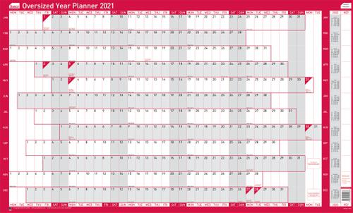 Sasco Oversized Year Planner Unmounted 2021 2410128
