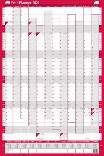 Sasco Unmounted Year Planner Portrait 2021 BX10
