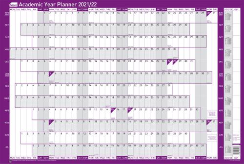 Sasco Mounted Academic Year Planner 2021 2022 BX10