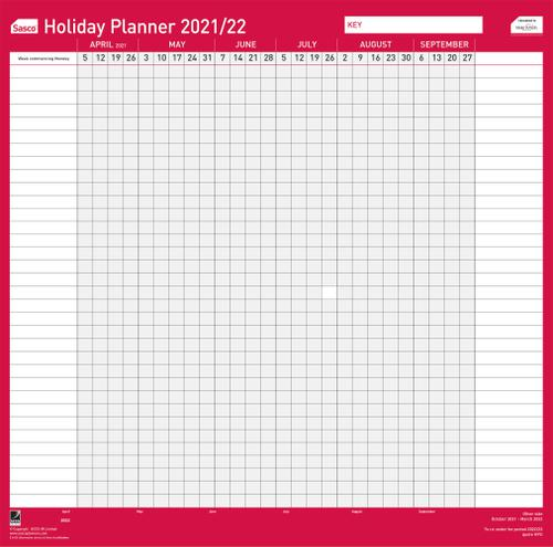 Sasco Annual Holiday Planner Unmounted 2021 BX10