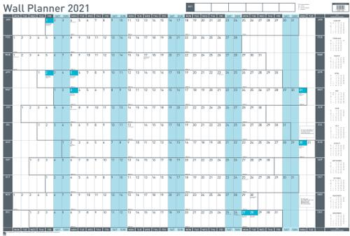 Sasco Unmounted Wall Planner 2021 BX10