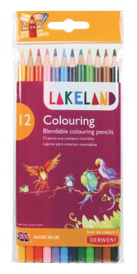 Lakeland Colouring Pencils Round-barrelled Soft Blendable Wallet Assorted Ref 33356 [Pack 12]
