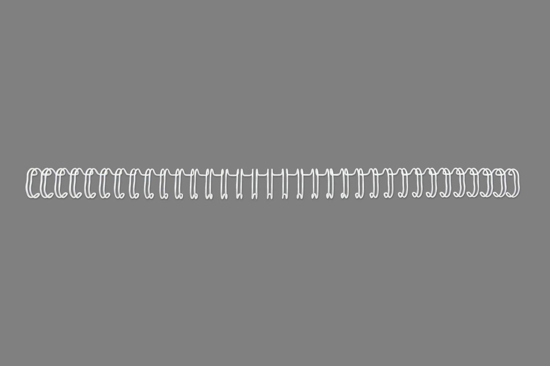 GBC 34 Loop Wire 9.5mm No.6 WT PK100