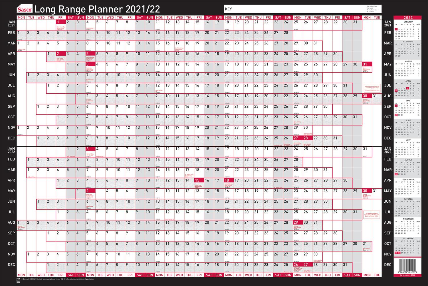Sasco Mounted Long Range Planner 2021 2023 BX10