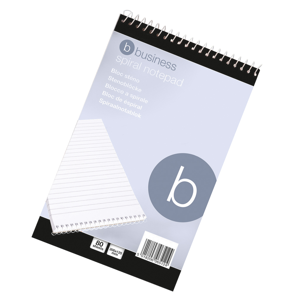 Business Shorthand Pad Wirebound 60gsm Ruled 160pp 127x200mm Red Ref 297595 Single