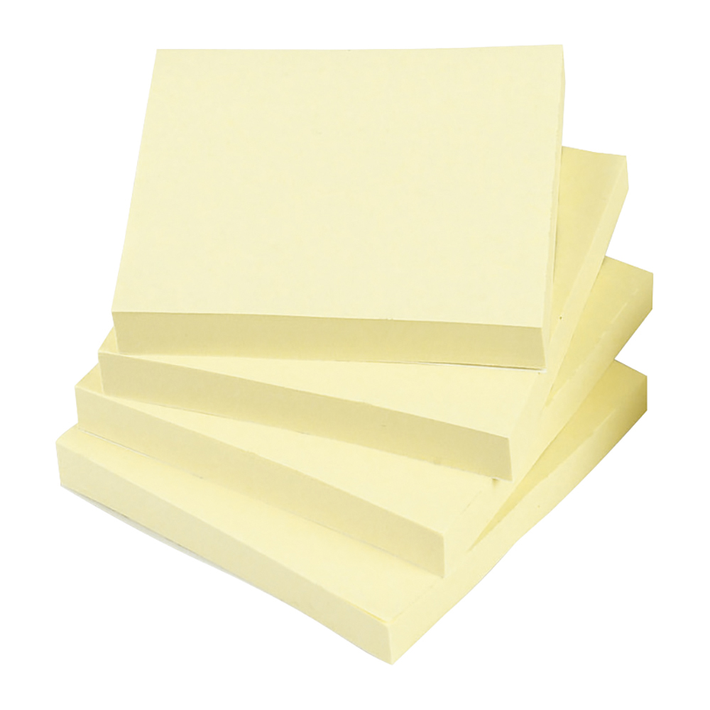 Business Re-Move Notes Repositionable Pad of 100 Sheets 76x76mm Yellow [Pack 12]