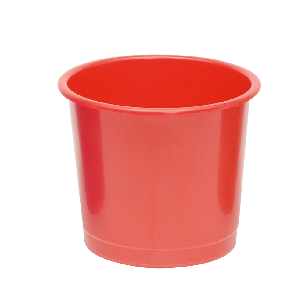Business Waste Bin Polypropylene 14 Litre Capacity 304x254mm Red