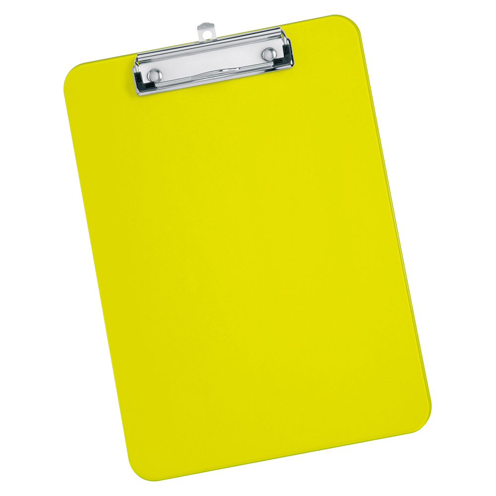 Office Supplies Desktop Accessories Clipboards B001122. Business Clipboard  Solid Plastic Durable With Rounded Corners A4 Lime Green