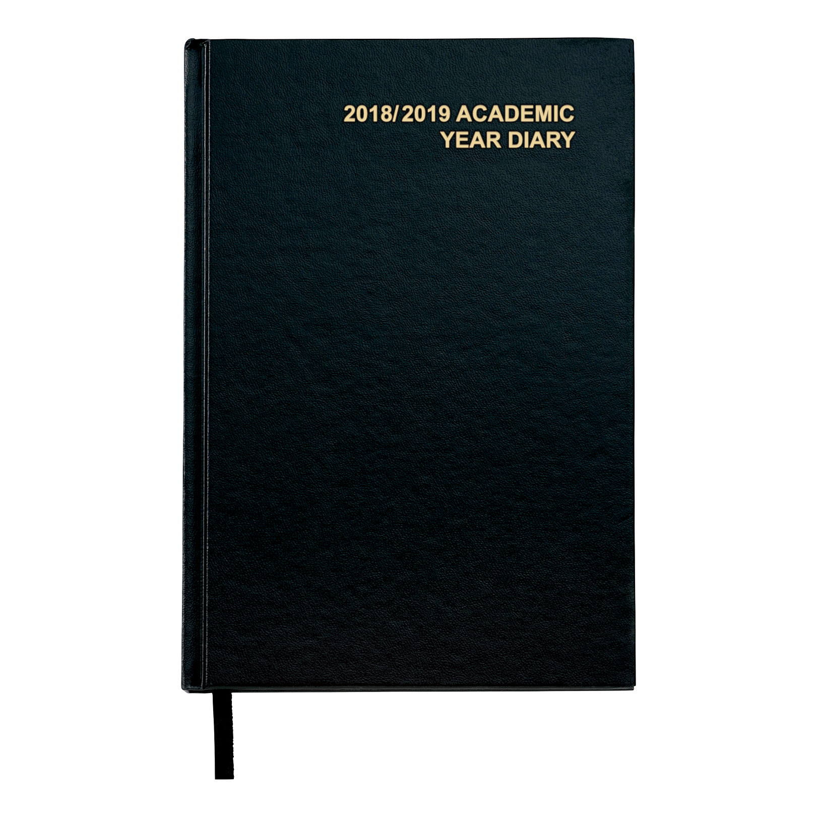 Business 2018/19 Academic Mid-year Diary Week to View Vinyl Coated Board A5 210x148mm Black