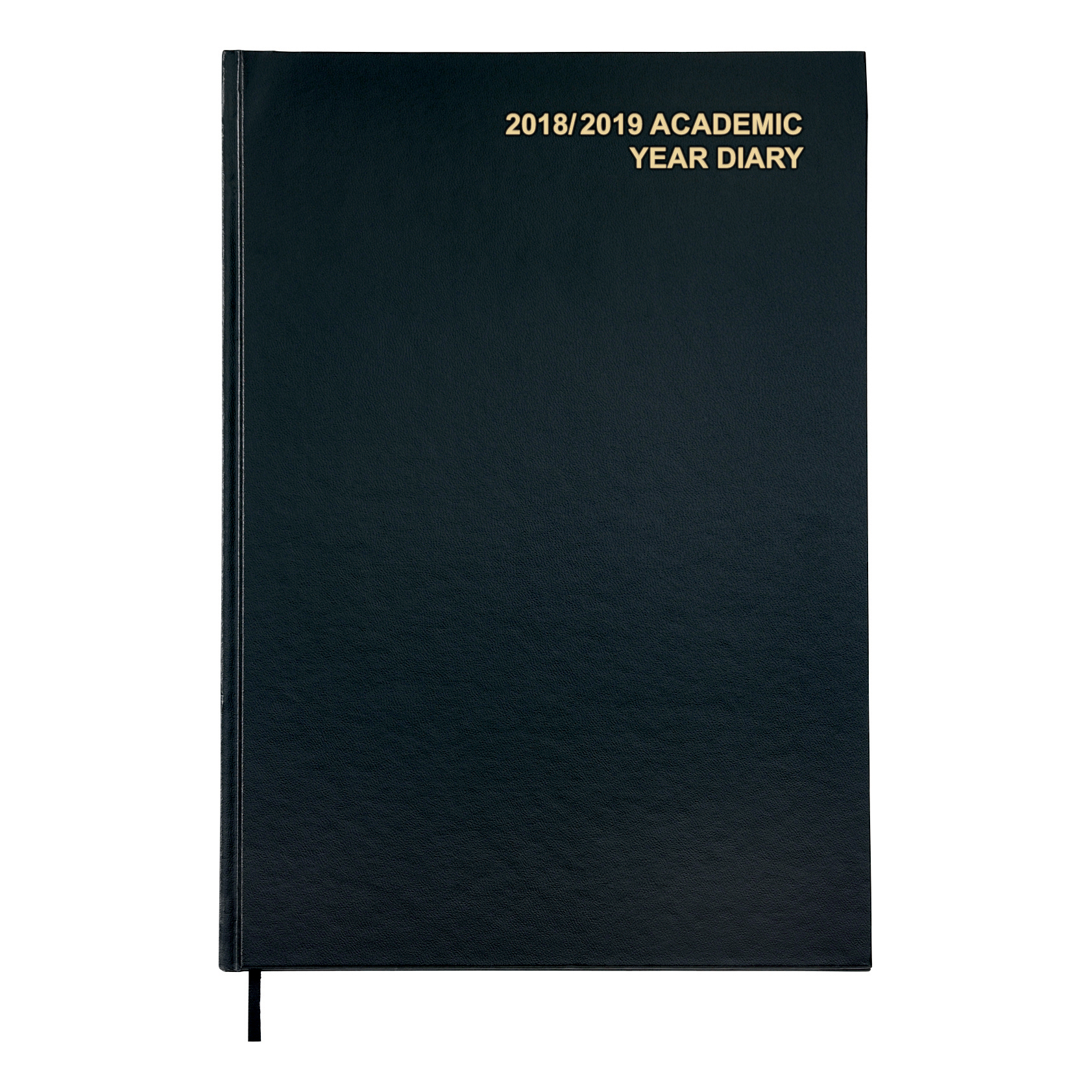 Business 2018/19 Academic Mid-year Diary Day to Page Vinyl Coated Board A4 210x297mm Black