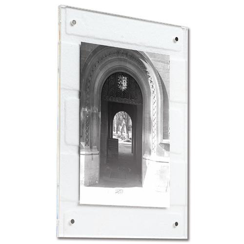 Business Acrylic Wall Display Frame Magnetic Closure with Fixings A4 210x12�297mm Clear