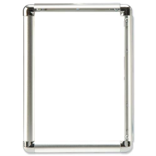 Business Clip Display Frame Aluminium with Fixings Front-loading A3 297x13�420mm Silver