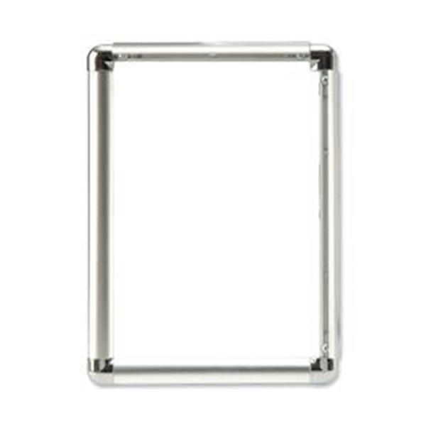 Business Clip Display Frame Aluminium with Fixings Front-loading A1 594x13�841mm Silver