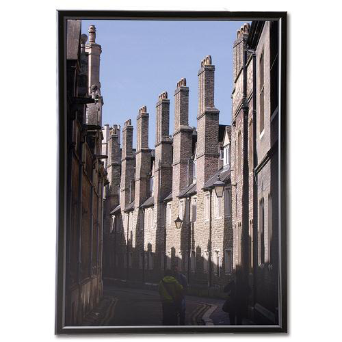Business Snap Photo Frame with Non-glass Polystyrene Front Back-loading A4 220x17x307mm Black