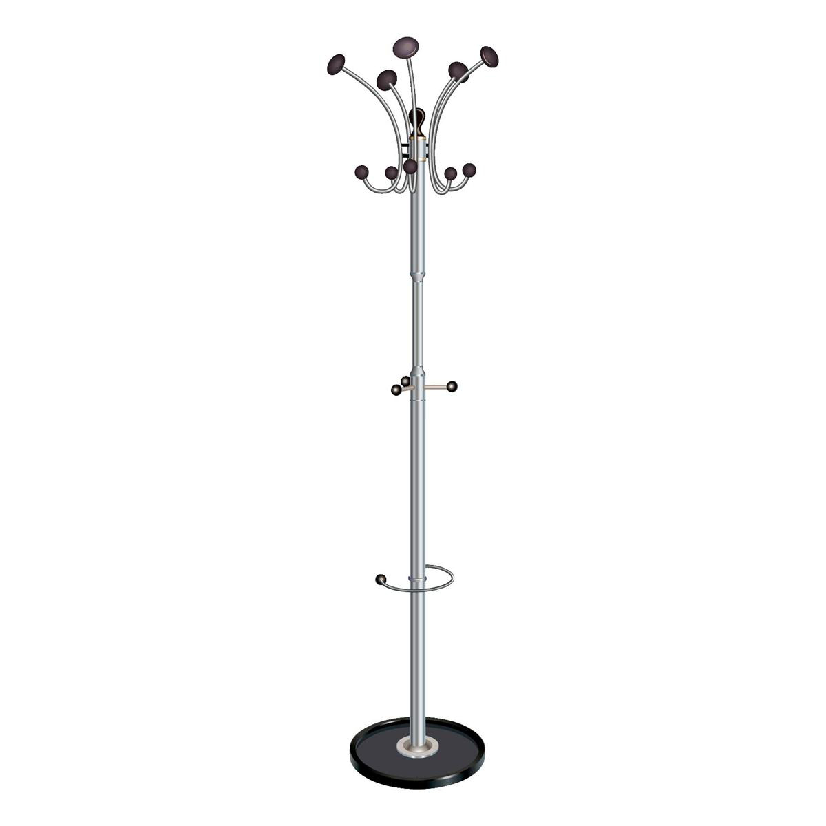 Business Coat Stand with Revolving Head 5 Pegs 5 Hooks ...