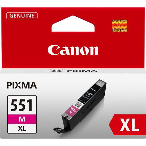 Canon CLI-551M XL Inkjet Cartridge Page Life 660pp Magenta Ref 6445B001