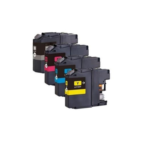 Brother Inkjet Cartridge Value Pack Page Life 600pp Black/Cyan/Magenta/Yellow Ref LC123VALBPX [Pack 4]