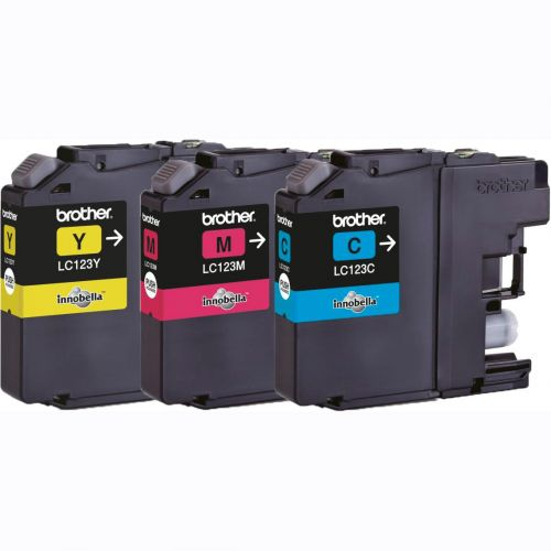 Brother Inkjet Cartridge Rainbow Pack Page Life 600pp Cyan/Magenta/Yellow Ref LC123RBWBP [Pack 3]