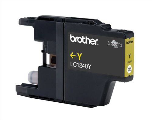 Brother Inkjet Cartridge Page Life 600pp Yellow Ref LC1240Y