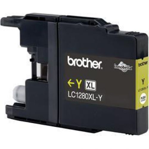 Brother Inkjet Cartridge High Yield Page Life 1200pp Yellow Ref LC1280XLY
