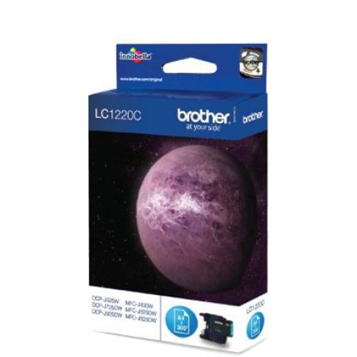 Brother Inkjet Cartridge Page Life 300pp Cyan Ref LC1220C