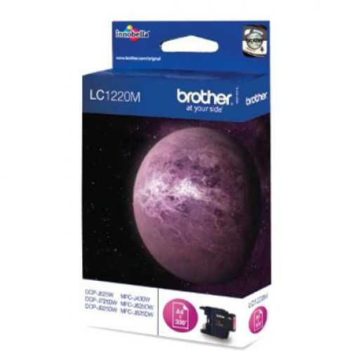 Brother Inkjet Cartridge Page Life 300pp Magenta Ref LC1220M