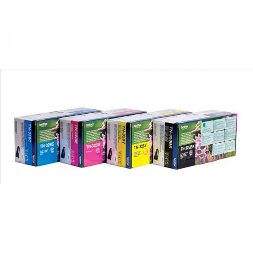 Brother Laser Toner Cartridge Page Life 6000pp Black Ref TN328BK