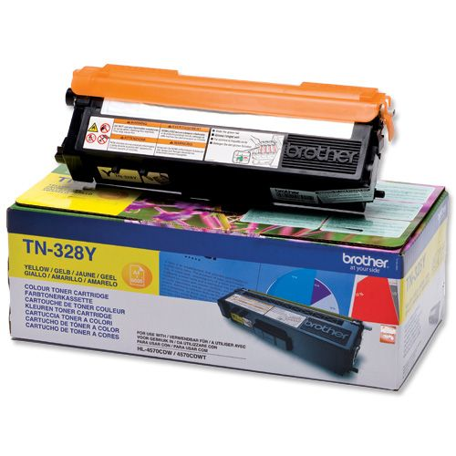 Brother Laser Toner Cartridge Page Life 6000pp Yellow Ref TN328Y