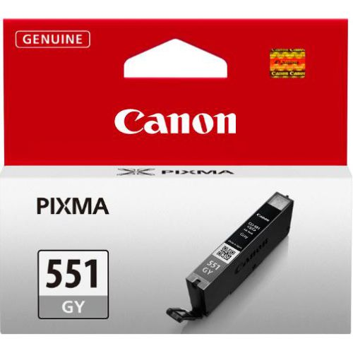 Canon CLI-551GY Inkjet Cartridge Page Life 125 Photos Grey Ref 6512B001