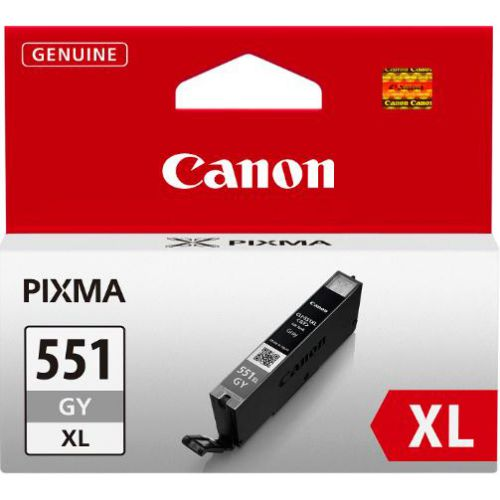 Canon CLI-551GY XL Inkjet Cartridge Page Life 275 Photos Grey Ref 6447B001