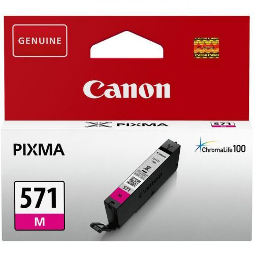 Canon CLI-571 InkJet Cartridge Page Life 300pp Magenta Ref 0387C001