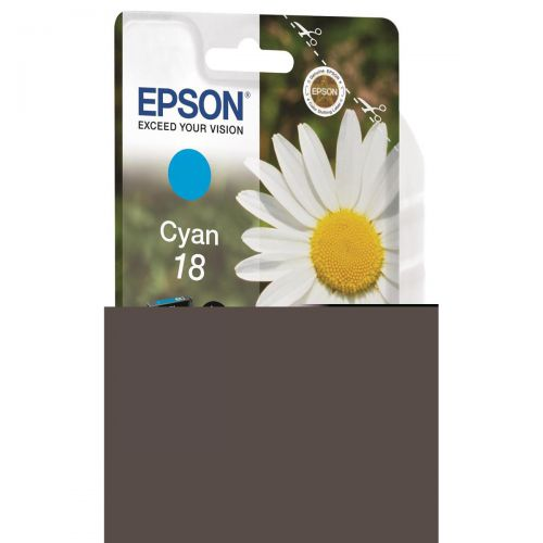 Epson 18 Inkjet Cartridge Daisy Capacity 3.3ml 180pp Cyan Ref C13T18024012