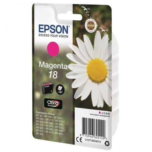 Epson 18 Inkjet Cartridge Daisy Capacity 3.3ml 180pp Magenta Ref C13T18034012