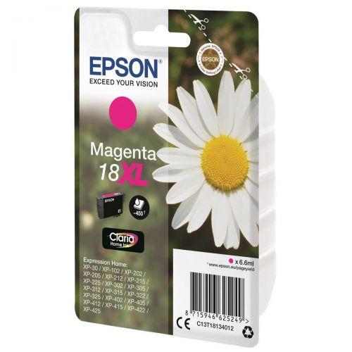 Epson 18XL Inkjet Cartridge Daisy High Capacity 6.6ml 450pp Magenta Ref C13T18134012
